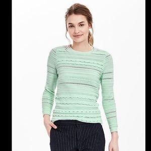 BR▪️Scalloped Longsleeve Knit Sweater. M (G)